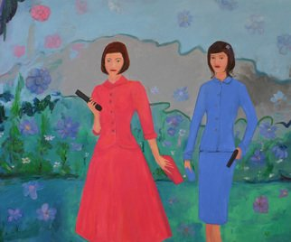 Kenn Zeromski: 'Two Sisters', 2013 Oil Painting, Other.  Two Sisters - 30 x 24 oil on canvas   ...