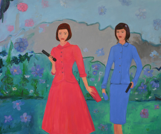 Kenn Zeromski: Two Sisters, 2013 Oil Painting