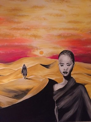 Irma Kvezereli: 'desert', 2016 Oil Painting, Inspirational. Artist Description:  desert oil painting ...
