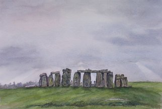 Debbie Homewood Artwork Stonehenge, 2007 Watercolor, Architecture
