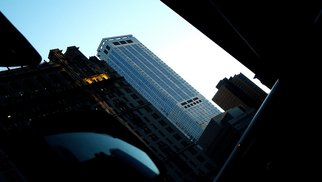 Kerwin Williamson: 'In the shadow of the young ones', 2011 Color Photograph, Cityscape. Artist Description:   This is one image from a series for a project called Vo senkata na mladite,  or In the shadow of the young ones. Its an architectural project about new architecture vs old, the image representing some of the cities newer buildings in the downtown sector of New York.   ...