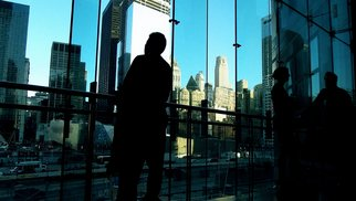Kerwin Williamson: 'Through the looking glass', 2011 Color Photograph, Cityscape. Artist Description:  This is one image from a series for a project called Vo senkata na mladite,  or In the shadow of the young ones. Its an architectural project about new architecture vs old, the image representing some of the cities newer buildings in the downtown sector of New York.  ...