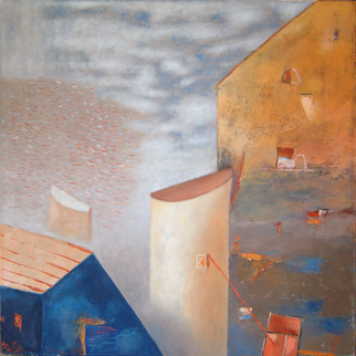 Artist: Kestutis Jauniskis - Title: Architectural Form - Medium: Oil Painting - Year: 2013