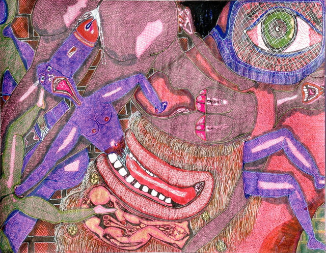 King Kevin  'Confusion Of Parts', created in 2008, Original Pastel Oil.