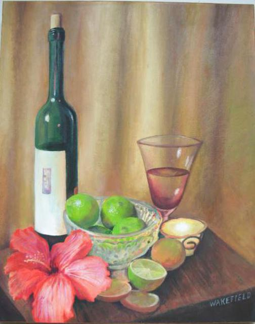 Kevin Wakefield  'Accented With Lme And Hibiscus', created in 2013, Original Pastel.