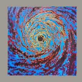 Kevin Wakefield: 'Colorstorm', 2010 Oil Painting, Psychedelic. Artist Description:  A hurricane depicted with sattelite digital coloration. ...