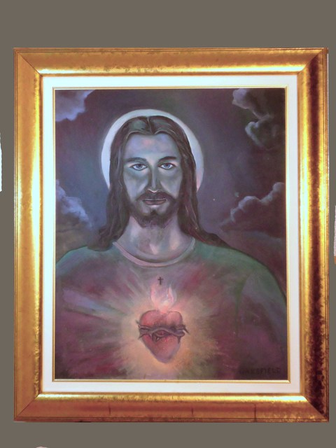 Kevin Wakefield  'Moon Over Christ', created in 2007, Original Pastel.