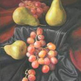 Pears over  Silk By Kevin Wakefield