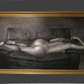 Kevin Wakefield: 'Sensuous Curves', 2009 Oil Painting, nudes. Artist Description:  Sold at seizedpropertyauction. com in 2010 ...