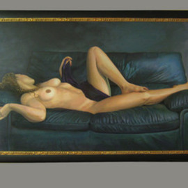 Kevin Wakefield: 'Shy Temptress', 2009 Oil Painting, nudes. Artist Description:     This sensual female figure painting sold at seisedpropertyactions. com in 2010 for $2300. 00  ...