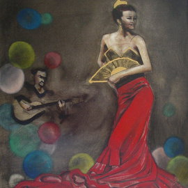 Kyle Foster Artwork Baile, 2009 Oil Painting, Dance