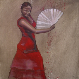 Kyle Foster Artwork Flamenco, 2009 Oil Painting, Dance