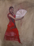 Artist: Kyle Foster, title: Flamenco, 2009, Painting Oil