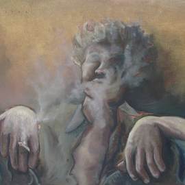 Kyle Foster: 'Introspective', 2008 Oil Painting, Abstract Figurative.