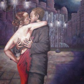 Kyle Foster: 'Midnight Kiss', 2008 Oil Painting, Figurative.