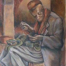 Kyle Foster: 'The Tailor', 2006 Oil Painting, Figurative.