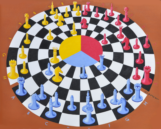 Khosrow Mokori  'Chess 3 Bounce', created in 2018, Original Other.