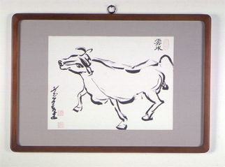 Undefined Medium by Kichung Lizee titled: Dancing Cow, created in 2002