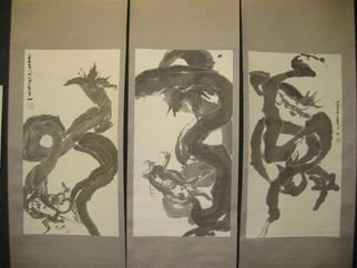 Undefined Medium by Kichung Lizee titled: Dragon Triptych, 2003