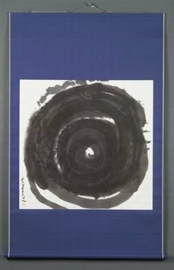 Kichung Lizee: 'Endless Enso', 2005 Calligraphy, Abstract.  done on mulberry paper, using Chinese ink, and Eastern calligraphy brush.  presented as a traditional Asian scroll. ...