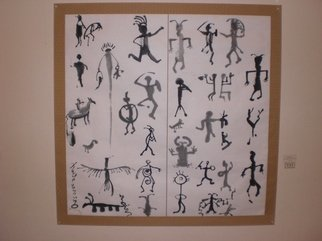 Kichung Lizee: 'Petroglyph', 2008 Calligraphy, Visionary. Artist Description:  Eastern calligraphy work on mulberry paper ...