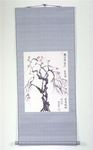 Artist: Kichung Lizee - Title: Tree with Red Blossoms - Medium: Mixed Media - Year: 2002