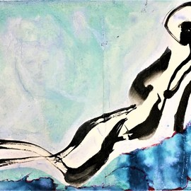 reclining figure By Kichung Lizee