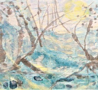 Kichung Lizee: 'winter sun ata', 2021 Mixed Media, Spiritual. winter snow and water flowing...