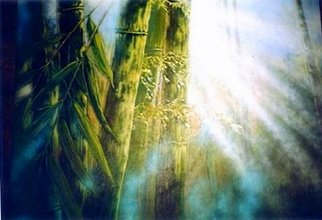 Landscape Acrylic Painting by Kiddolucas Lee Title: Light of Longevity 2003, created in 2003