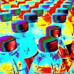 Rainbow Bottles By Greg Spohn