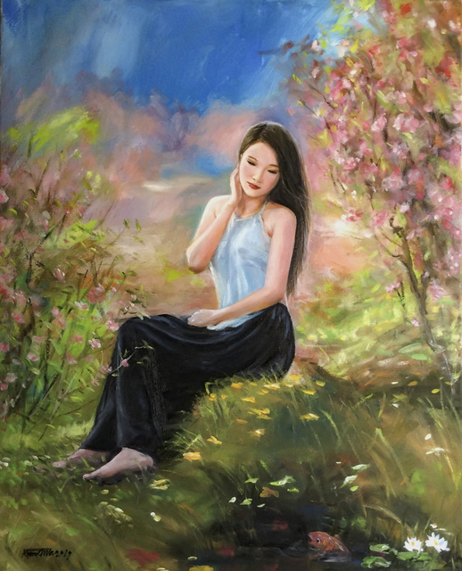 Kim Anh  'Miss Viet', created in 2018, Original Painting Oil.