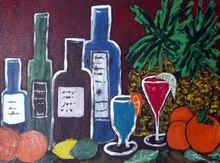 - artwork The_Wine_and_Fruit_Party-1355859848.jpg - 2012, Painting Acrylic, Still Life