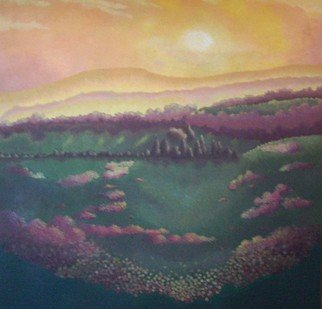 Landscape Acrylic Painting by Kimberley Walton Title: Sunset Dream, created in 2007