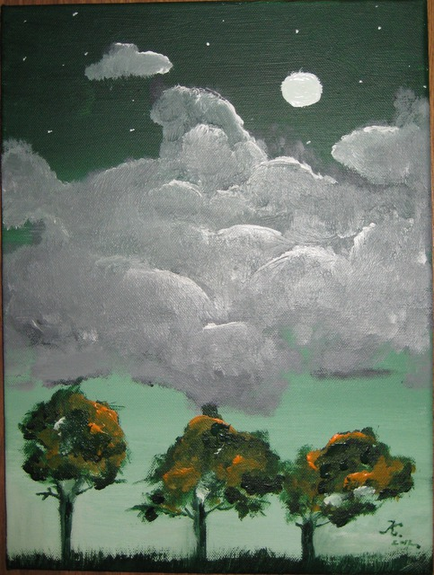Kinga Szasz  'Moon', created in 2012, Original Painting Acrylic.