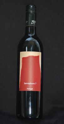 Graphic Design by Douglas A. Kinsey titled: Semaphore 7 Wine from Portugal, 2011
