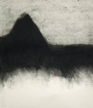 Abstract Charcoal Drawing by Douglas A. Kinsey Title: Waking Into The Desert  Dream 39, created in 2011