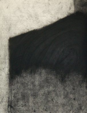 Abstract Charcoal Drawing by Douglas A. Kinsey Title: Waking Into The Desert  Dream 40, created in 2011
