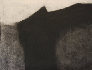 Abstract Charcoal Drawing by Douglas A. Kinsey Title: Waking Into The Desert  Dream 42, created in 2011