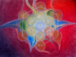 Kiron Kurian: 'Seed', 2014 Pastel, Meditation. Artist Description:  The Sacred image of the heart of hearts, that is both within and without. The cornerstone of this universe and the next. Metaphorical artwork done with soft pastels, digital interface, mixed media and love. ...