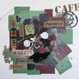 Vasco Kirov: 'cafe collage l1', 2015 Collage, Culture. Artist Description: cafe collage, colourful collage, coffee painting, Painting about coffee, painting with coffee, abstract coffee collage, acrylic collage, collage artwork, abstract collage, ...