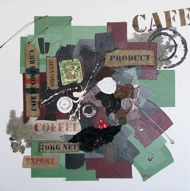 Vasco Kirov  'Cafe Collage L1', created in 2015, Original Collage.