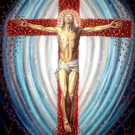 Margarita Usmanova Artwork Crucifixion of Jesus Christ, 2011 Oil Painting, Surrealism