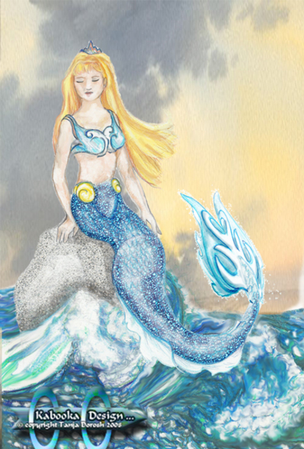 Tanja Dorosh  'Mermaid Brittany', created in 2008, Original Digital Art.