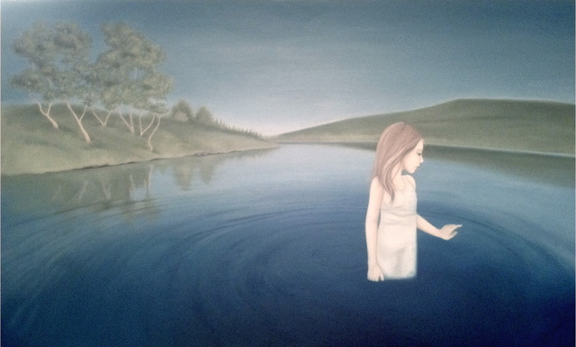 Kirsten Kramer  'Girl In Lake', created in 2011, Original Painting Oil.
