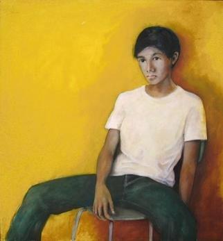 Artist: Klaus Hinz - Title: melamun - Medium: Acrylic Painting - Year: 2000