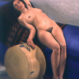 Claudia Kleefeld: 'In the Time of Fear', 1997 Oil Painting, Figurative. Artist Description:  Oil on Linen ...