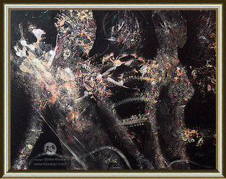 Acrylic Painting by Ovidiu Kloska titled: The dew collects Composition 10, 2014