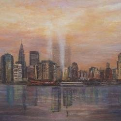 , Towers Of Light New York, Impressionism, $525