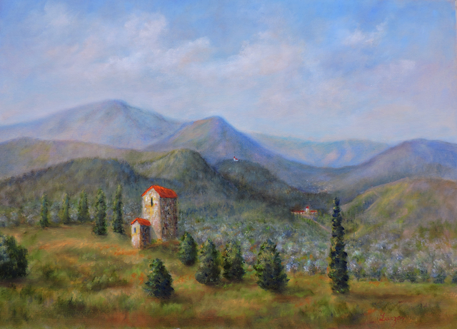Tuscany Italy Landscape Oil Painting By Katalin Luczay Absolutearts Com