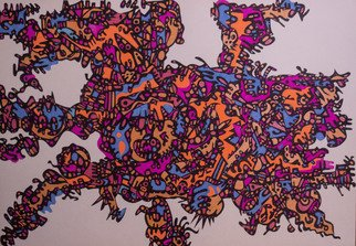 Koval Vadim: 'zzzboy57', 2018 Pen Drawing, Abstract. Artist Description: abstract...